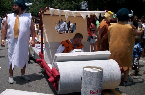 2. Flintstone Car