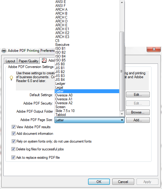 how to change pdf page size in adobe