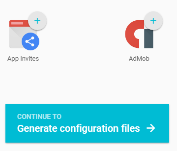 Continue to Generate Configuration Files